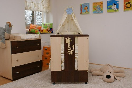 kinderbett paula babybett incl wickelkommode lattenrost matratze bettw sche komplettset 12. Black Bedroom Furniture Sets. Home Design Ideas