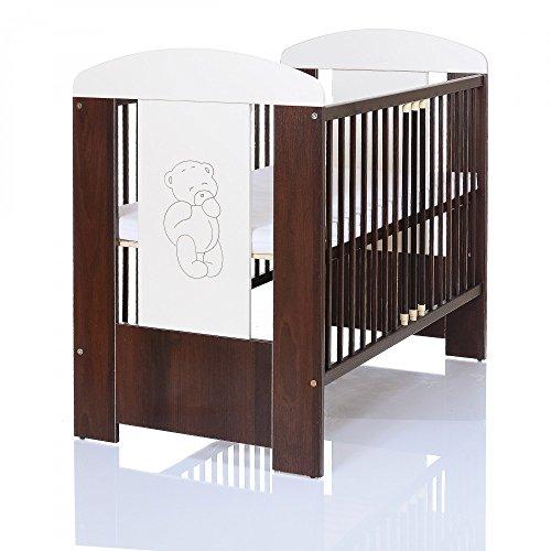 b r braun baby kinderzimmer komplett m belset 120x60 bett matratze wickelkommode mit ablage. Black Bedroom Furniture Sets. Home Design Ideas