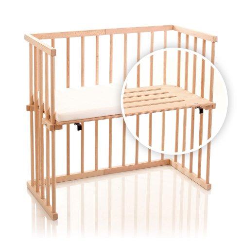 dreamgood beistellbett buche inkl matratze prime 2. Black Bedroom Furniture Sets. Home Design Ideas
