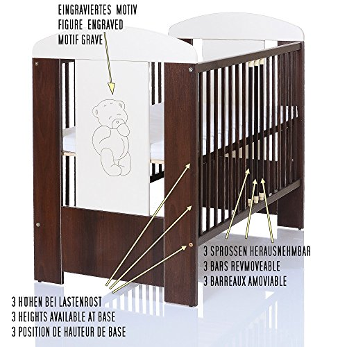 b r braun baby kinderzimmer komplett m belset 120x60 bett matratze wickelkommode mit ablage. Black Bedroom Furniture Sets. Home Design Ideas