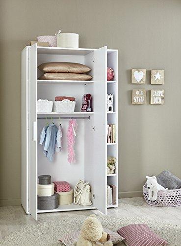 babyzimmer kinderzimmer komplett set kim 4 in wei komplettset mit grossem kleiderschrank. Black Bedroom Furniture Sets. Home Design Ideas