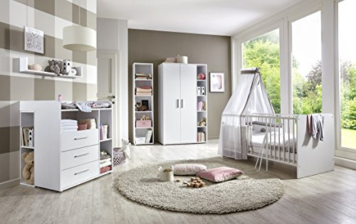 babyzimmer kinderzimmer komplett set kim 4 in wei. Black Bedroom Furniture Sets. Home Design Ideas