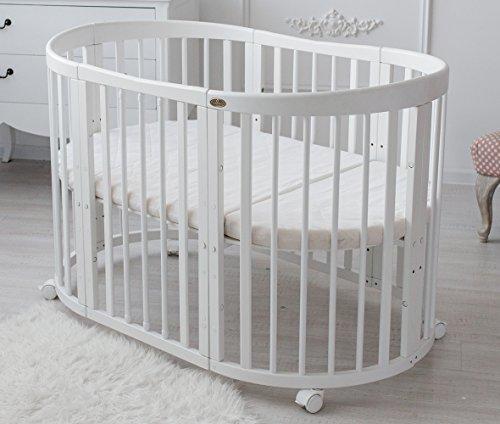 ComfortBaby ® SmartGrow 7in1 Multifunktionales Baby- und Kinderbett Weiss – ohne Bettset (5 Fach zertifiziert nach DIN-EU Sicherheitsnorm)